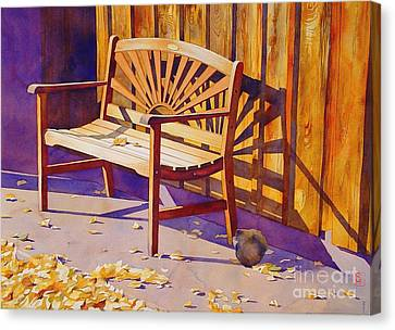 Bench At Sharlot Hall Canvas Print by Robert Hooper