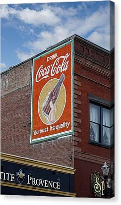 Bend Oregon Coke Sign Canvas Print by Gary Grayson