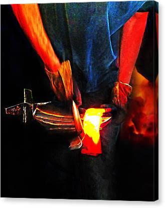 Bending Hot Steel Canvas Print by Terril Heilman