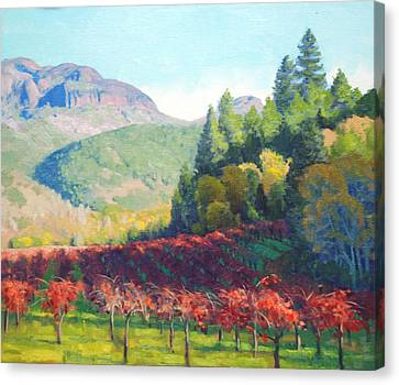 Beneath The Palisades Canvas Print by Armand Cabrera