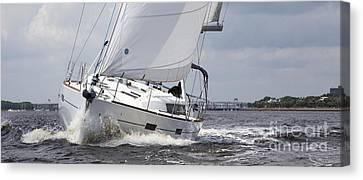 Beneteau Oceanis 45 Hull #1 Sailboat  Canvas Print by Dustin K Ryan
