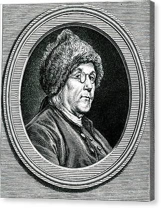 Benjamin Franklin Canvas Print by Collection Abecasis