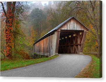 Bennett Mill Covered Bridge Canvas Print by Jack R Perry