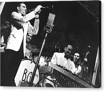 Benny Goodman Quartet Canvas Print by Underwood Archives