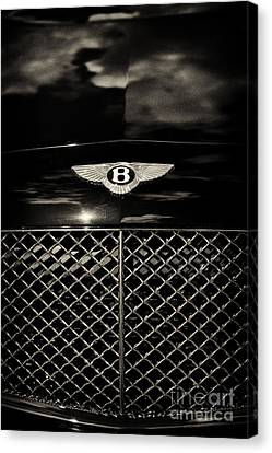 Bentley Continental Gt Sepia Canvas Print by Tim Gainey