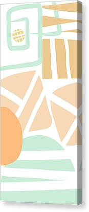 Bento 3- Abstract Shapes Art Canvas Print by Linda Woods