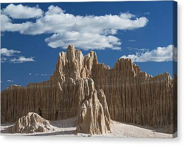 Bentonite Clay Formations Cathedral Canvas Print by Kevin Schafer