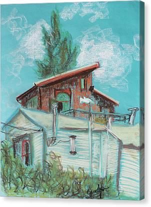 Berkeley Neighbor Houses On A Sunny Day Canvas Print by Asha Carolyn Young