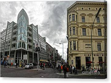 Berlin - Checkpoint Charlie Canvas Print by Gregory Dyer