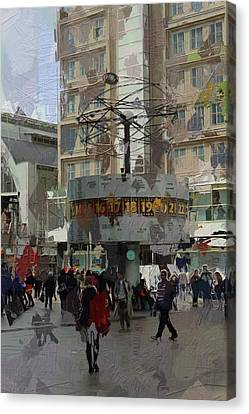 Berlin Alexanderplatz Canvas Print by Stefan Kuhn