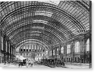 Berlin Anhalter Bahnhof Canvas Print by Cci Archives