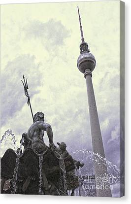Berlin - Berliner Fernsehturm - Radio Tower No.04 Canvas Print by Gregory Dyer