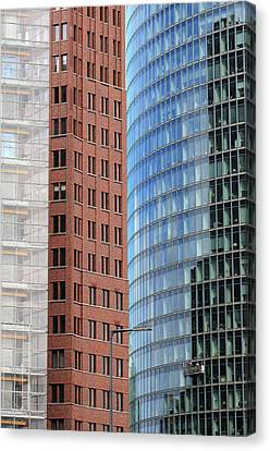 Berlin Buildings Detail Canvas Print by Matthias Hauser