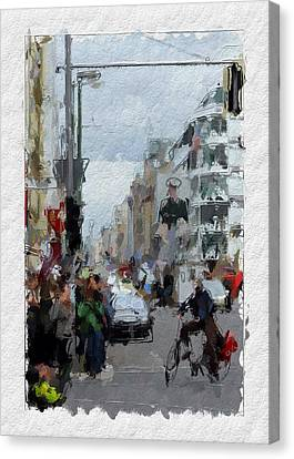 Berlin Checkpoint Charlie Canvas Print by Stefan Kuhn
