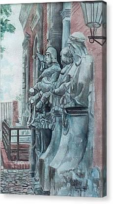 Berlin History Sculptures Canvas Print by Leisa Shannon Corbett