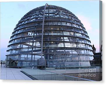 Berlin - Reichstag Roof - No.02 Canvas Print by Gregory Dyer