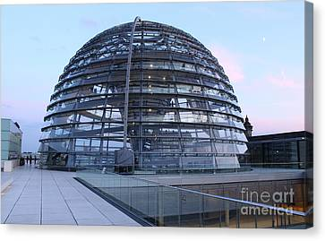 Berlin - Reichstag Roof - No.03 Canvas Print by Gregory Dyer