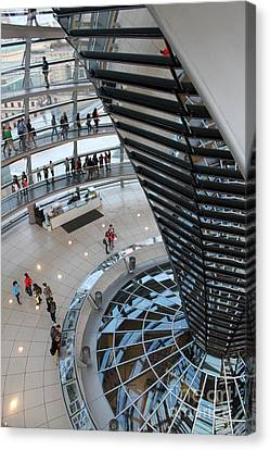 Berlin - Reichstag Roof - No.06 Canvas Print by Gregory Dyer