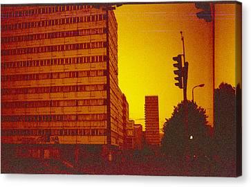 Berlin Street Ddr Canvas Print by Juan  Bosco