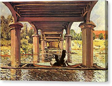 Berners On The Water Canvas Print by Jaime De Haas