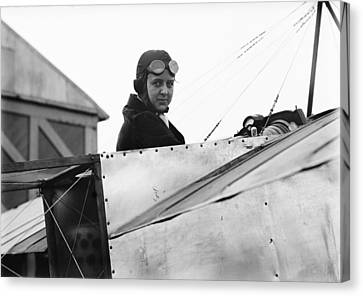 Bernetta Miller, Us Aviator Canvas Print by Science Photo Library