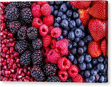 Berry Delicious Canvas Print by Teri Virbickis