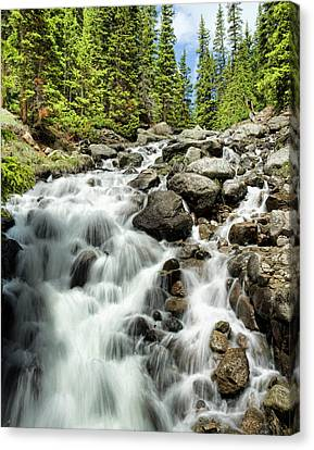Berthoud Falls Canvas Print by Jim Garrison