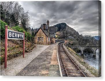 Berwyn Railway Station Canvas Print by Adrian Evans