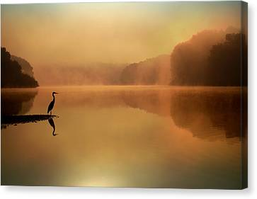 Beside Still Waters Canvas Print by Rob Blair