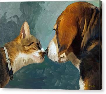 Best Friends Canvas Print by Angela A Stanton