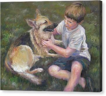 Best Friends Canvas Print by Bonnie Goedecke