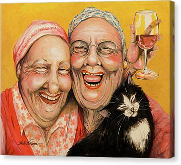 Bestest Friends Canvas Print by Shelly Wilkerson