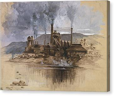 Bethlehem Steel Corporation Circa 1881 Canvas Print by Aged Pixel