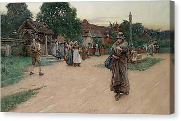 Betrayed Canvas Print by Walter Langley