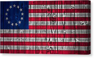 Betsy Ross American Flag Barn Canvas Print by Dan Sproul