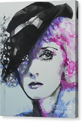 Bette Davis 02 Canvas Print by Chrisann Ellis