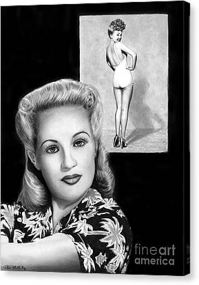 Betty Grable Canvas Print by Peter Piatt