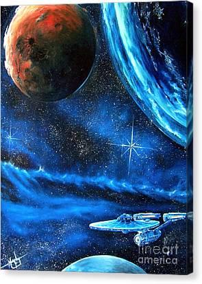 Between Alien Worlds Canvas Print by Murphy Elliott