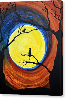 Between Day And Night Canvas Print by Vicki Kennedy