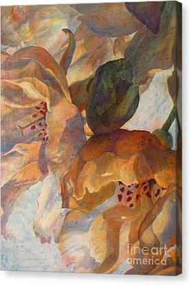 Bev's Blossoms Canvas Print by Deborah Younglao