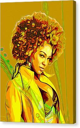 Beyonce 2 Canvas Print by  Fli Art