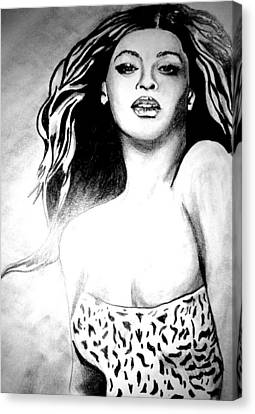 Beyonce Canvas Print by Pauline Murphy