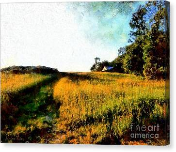 Beyond The Hill  Canvas Print by Janine Riley