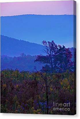 Beyond The Last Mountain Canvas Print by Helene Guertin