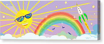 Beyond The Rainbow Canvas Print by J L Meadows