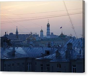 Beyond The Rooftops Canvas Print by Anna Yurasovsky