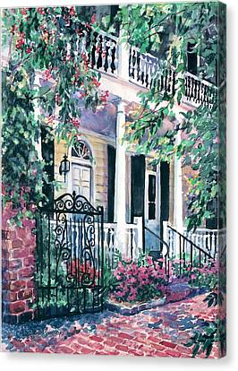 Beyond The Wrought Iron Canvas Print by Alice Grimsley