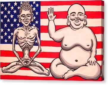 Bi-polar Buddha Canvas Print by Nathan Winsor