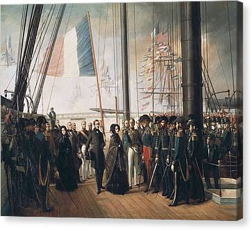 Biard, Fran�ois Auguste 1799-1882 Canvas Print by Everett