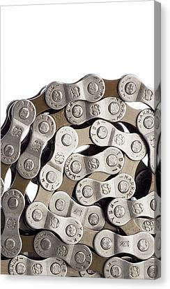 Bicycle Chain Coiled Up Canvas Print by Science Photo Library